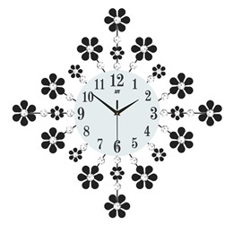 Creative Pattern Design Separates Combination Single Face Form Wall Clock