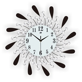 Stopwatch Movement Single Face Form European Style Wall Clock