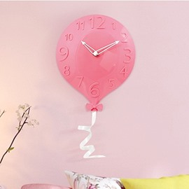 Cute Balloon Shape 4 Color Kids Room Decor Wall Clock