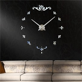 Creative Pattern 3D Acrylic DIY Home Decor Mute Wall Clock