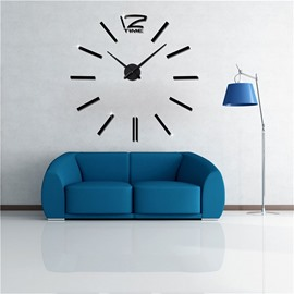 Simple Design Business Style 3D Acrylic DIY Home Decor Mute Wall Clock