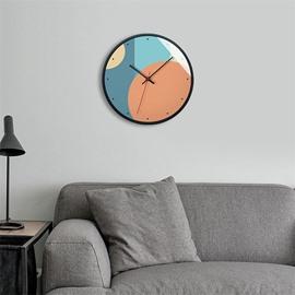 Gradient Ramp 12*12*1.6in Glass Surface Circular Home Decor Mute Wall Clock