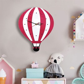 Cartoon Balloon Pattern Acrylic Kids Room Decor Mute Wall Clock