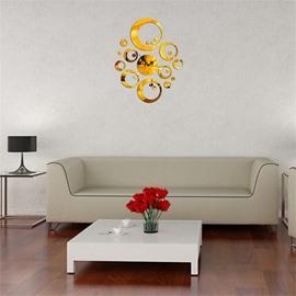 DIY Irregular Shape 3 Color Simple Design 3D Acrylic DIY Specular Mute Wall Clock