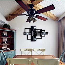 Creative Modern Simple Design MDF Digit Black Wall Clock