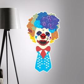 Clown and Hamburger Shaped 3D Creative Decoration Wall Clock