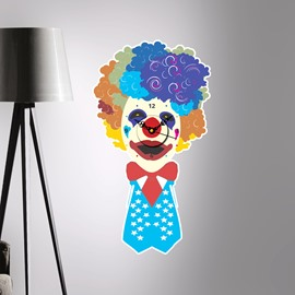 Clown and Hamburger Shaped 3D Creative Decoration Wall Clock