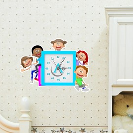 Children Design 3D Creative Decoration Wall Clock
