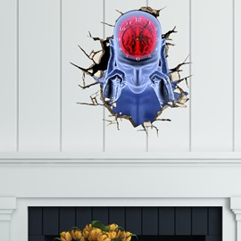 Human Brain Shaped 3D Creative Decoration Wall Clock
