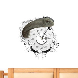 Boy and Doll Shaped 3D Creative Decoration Wall Clock