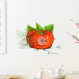 Tomato Hamburger and Starfish Shaped 3D Creative Decoration Wall Clock