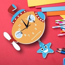 3D Cute Non-Ticking Quiet Kids Room Wall Clock
