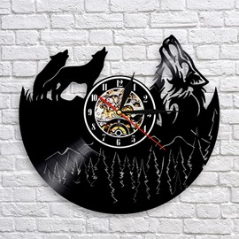 Wolf Creative Separates Wall Clocks Silent Movement Accurate Travel Time Clock