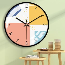 16 Inch Modern Wall Clock Battery Operated Silent Non-Ticking Decorative Round Wall Clock Digital Wall Clock Decor for Home Office School