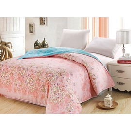 Pastoral Small Floral Pink 4-Piece Cotton Duvet Cover Sets