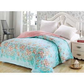 Adorable Fresh Pastoral Style Floral Blue 4-Piece Duvet Cover Sets
