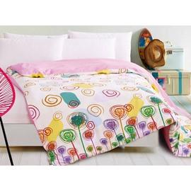 Creative Lightful Colorful Plant Print 4-Piece Duvet Cover Sets