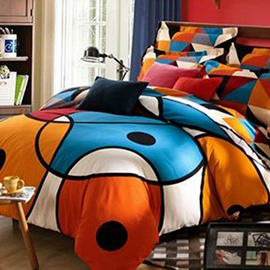 Modern Style Abstract Pattern Cotton 4-Piece Bedding Sets/Duvet Cover