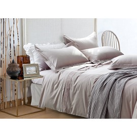 Elegant Concise Style Cotton 4-Piece Duvet Cover Sets