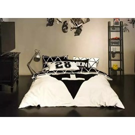 Fashion Geometric Cotton 4-Piece Duvet Cover Sets