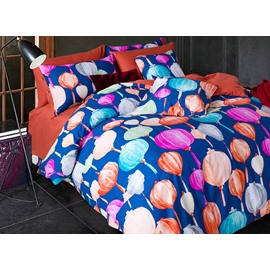 Colourful Lanterns Cotton 4-Piece Duvet Cover Sets