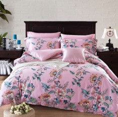 Elegence Amercian Country Style Retro Flowers 4-Piece Print Cotton Bedding Set