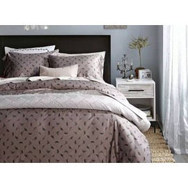 Unique Design Brown 4-Piece Active Print Cotton Bedding Sets