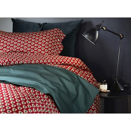 British Style Horse Pattern 4-Piece Cotton Duvet Cover Sets