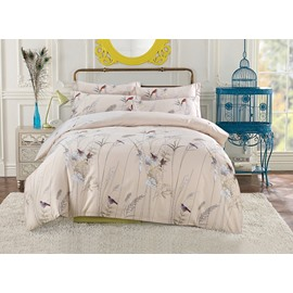 Charming Rural Style 4-Piece Cotton Duvet Cover Bedding Sets