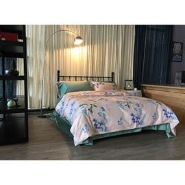 Exquisite Charming Flowers Pink 4-Piece Cotton Bedding Sets