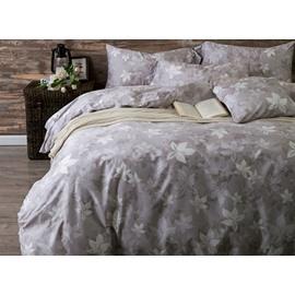 100% Cotton Leaves Print 4-Piece Duvet Cover Sets