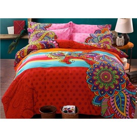 Fancy Bohemian Style 4-Piece Cotton Duvet Cover Sets