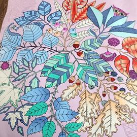 Chic Leaves Print Princess Style Purple Cotton 4-Piece Bedding Sets/Duvet Cover