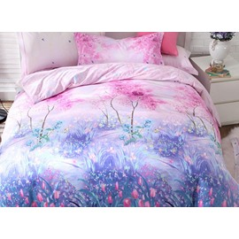 Incredible Jungle Print 4-Piece Cotton Duvet Cover Sets