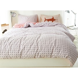 Minimal Style Pure Cotton 4-Piece Duvet Cover Sets