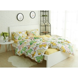 Lovely Cartoon Horse 4-Piece Cotton Duvet Cover Sets