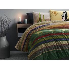 Superb Exotic Style Camel Print 4-Piece Cotton Duvet Cover Sets