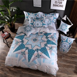 Designer 60S Brocade Bohemia Pattern Ethnic Style 4-Piece Cotton Bedding Sets/Duvet Cover