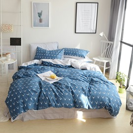 Wapiti Design Fresh Style Blue Cotton 4-Piece Bedding Sets/Duvet Cover