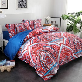 Adorila 60S Brocade Floral Paisley and European Architecture Pattern 4-Piece Cotton Bedding Sets