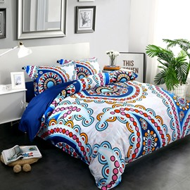 Adorila 60S Brocade Multicolor Floral Paisley Pattern Exotic Style 4-Piece Cotton Bedding Sets