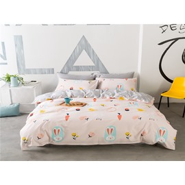 Mini Carrot Pink 4-Piece Bedding Sets/Duvet Cover