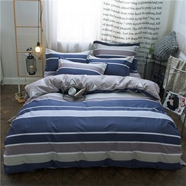 Geometric Pattern Stripes Style Cotton 4-Piece Bedding Sets/Duvet Covers