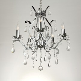 Traditional Amazing Metal Crystal 5 Lights Chandelier
