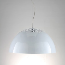 European-Style Minimalist Carved Shade 1 Light Pendant