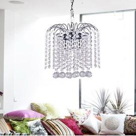 Amazing White Metal Crystal Pendant Light