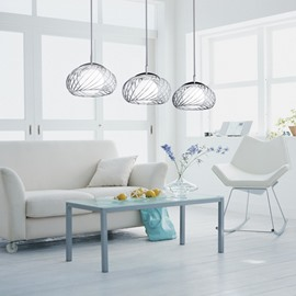 Amazing Net Metal Glass Shade 3 Lights Pendant