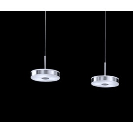 Modern Simple Style Round Metal Crystal Shade 3 Lights Pendant