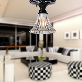 Modern Style Glass Shade 1 Lights Flush Mount