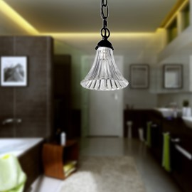 Modern Simple Style Glass Shade 1 Light Pendant